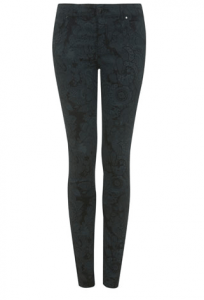 Khaki Paisley Print Jean