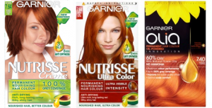Garnier Products; Nutrisse 7,64, Nutrisse Ultra 7.64 and Olia 7.4