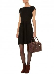 Dorothy Perkins Black Slash Neck Dress 19.99