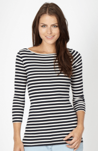 Red Herring Navy breton striped top £14.00