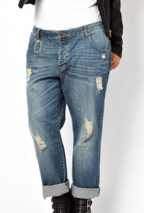 ASOS CURVE Saxby Boyfriend Jean With Distressed Rips £35.00