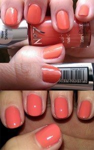 No7 Summer Collection Gel-Look Shine Nail Colours Orange Spice - On Nails (No Flash), Label, On Nail (With Flash)