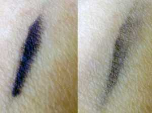 Eye Of Horus Scarab Sapphire Goddess Pencil - (Left) Swatched and (Right) Blended Swatch