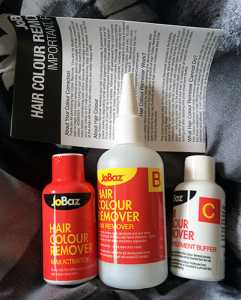 JoBaz Hair Colour Remover Max Strength - Box Contents