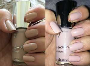No7 Gel Look Shine Nail Polish in Soft Truffle - (Left) Without Flash (Right) With Flash
