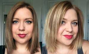 L'Oreal Preference Glam Bronde No.4 - Before and After