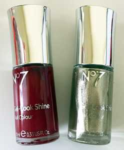 No7 Gel Effect Nail Polishes in Red Velvet and Treaure