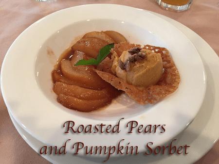 Roasted Pears and Pumpkin Sorbet