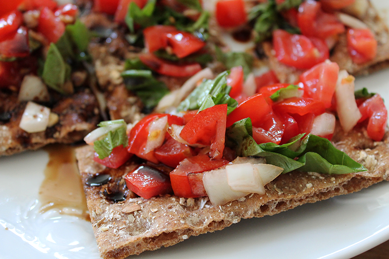 Bruschetta Crispbread close up