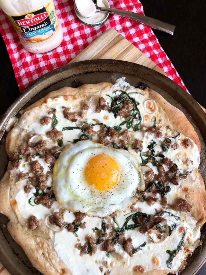 Alfredo white pizza recipe