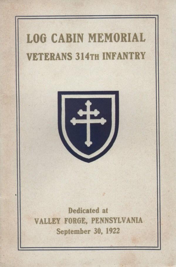 Log Cabin Memorial - Veterans 314th Infantry Regiment A.E ...