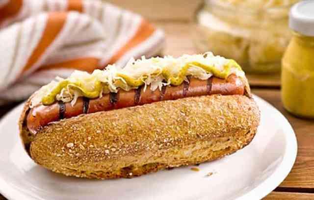 Grilled Sausages with Sauerkraut