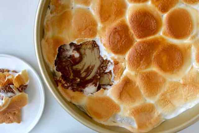 Peanut Butter Chocolate Oven S'mores