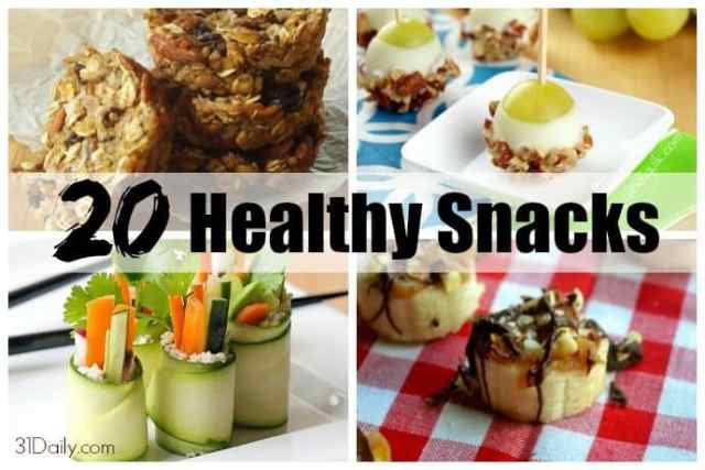 20 Healthy Snacks for On the Go!