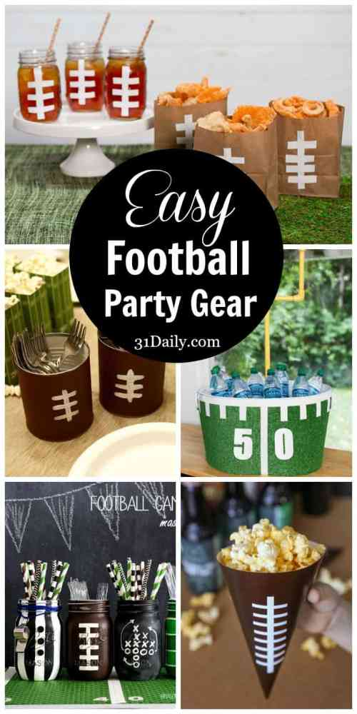 Easy Football DIY Party Gear | 31Daily.com