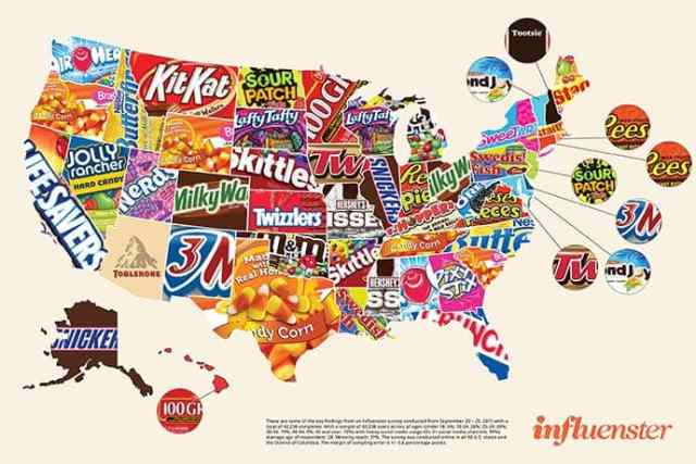 Most Popular Halloween Candy by State — and Favorite 100 Calorie Candy Options