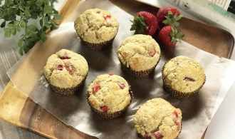Strawberry Muffins, a Perfect Sweet and Buttery Treat
