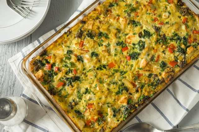 Easy Overnight Egg Bake with Sausage and Kale