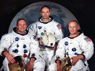 Neil A. Armstrong, Michael Collins i Edwin I. Aldrin Jr (Imatge d'arxiu del 1969 facilitada per la NASA)