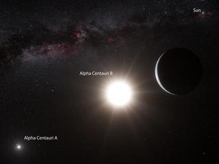 Troben un planeta de mida similar a la Terra en el sistema estel·lar més proper a nosaltres (Imatge:EFE)