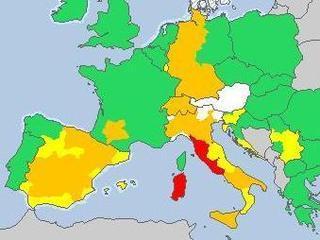 Avisos per calor, dissabte (Font: MeteoAlarm)