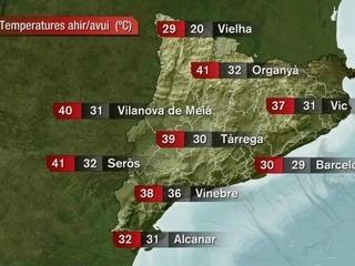 La retirada de l'onada d'aire saharià ha fet caure les temperatures a ponent i a l'interior de Catalunya.