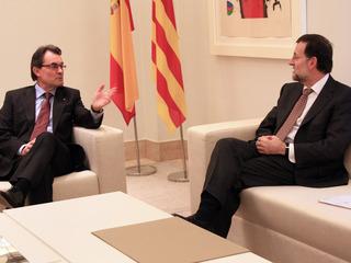 Mas i Rajoy, durant una trobada el mes de febrer passat a La Moncloa. (Foto: ACN)