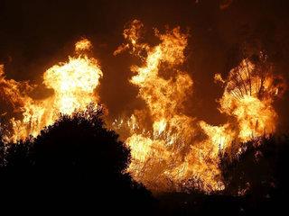 El foc crema a la serra Negra, a la província de Màlaga. (Foto: EFE)