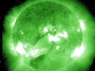 Imatge solar Raigs-X, diumenge 2 de setembre (Font: Goes-NOAA)
