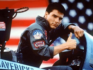 "Tom Cruise a ""Top Gun""."