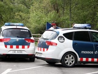 Dos cotxes dels Mossos d'Esquadra (Foto:ACN)