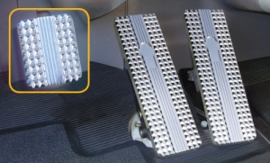 Precision Machined Semi Truck Billet Pedals With Deep