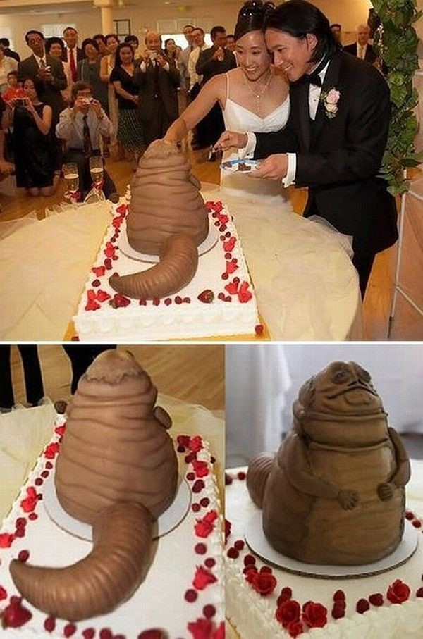 Top 10 most outrageous wedding cakes   32Red The Jabba the Hutt cake