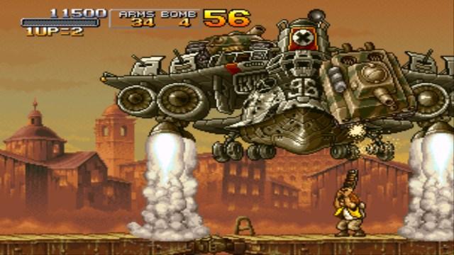 Metal Slug X boss fight