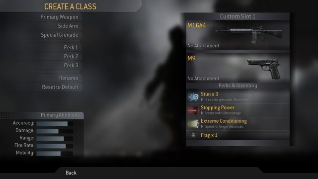Call of Duty 4 Create a Class