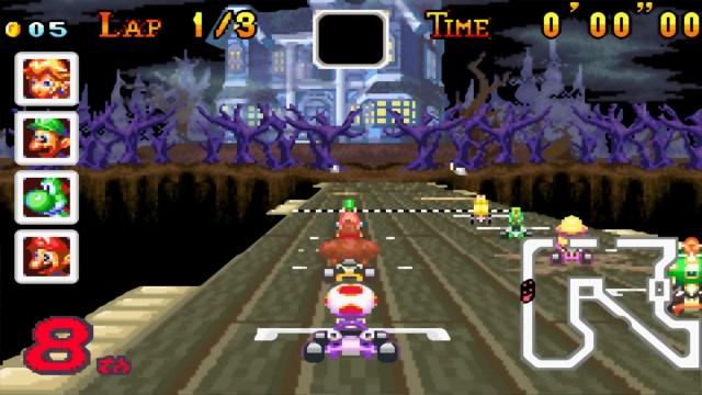 Mario Kart Super Circuit Ghosts