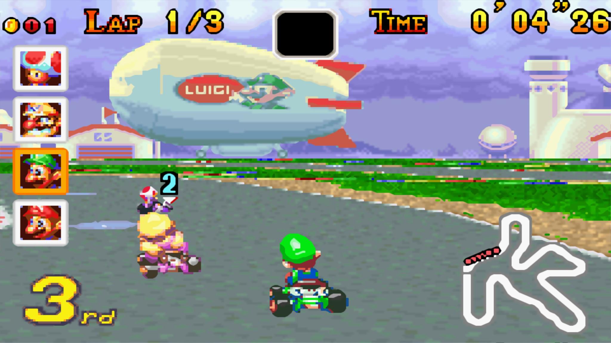 Mario Kart Super Circuit Luigi 336gamereviews
