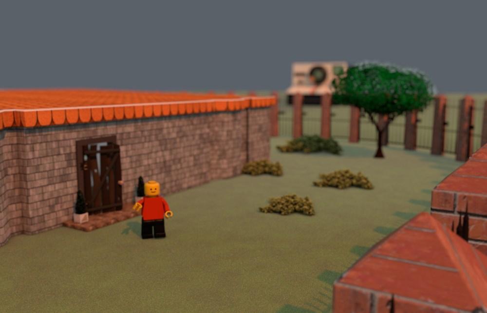 Lego Mans Garden 3D Model