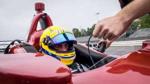 Rinus VeeKay with Ed Carpenter Racing Test Mid-Ohio