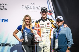 Toby Sowery Podium at Laguna Seca