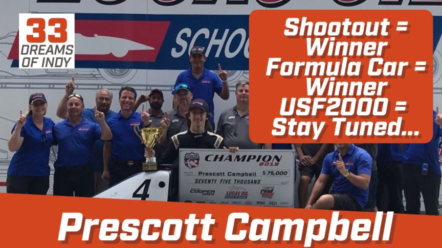 Prescott Campbell - Exclusive Autosport - USF2000 in 2020