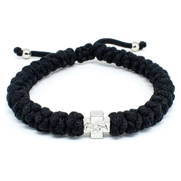 Adjustable Black Prayer Rope Bracelet-0