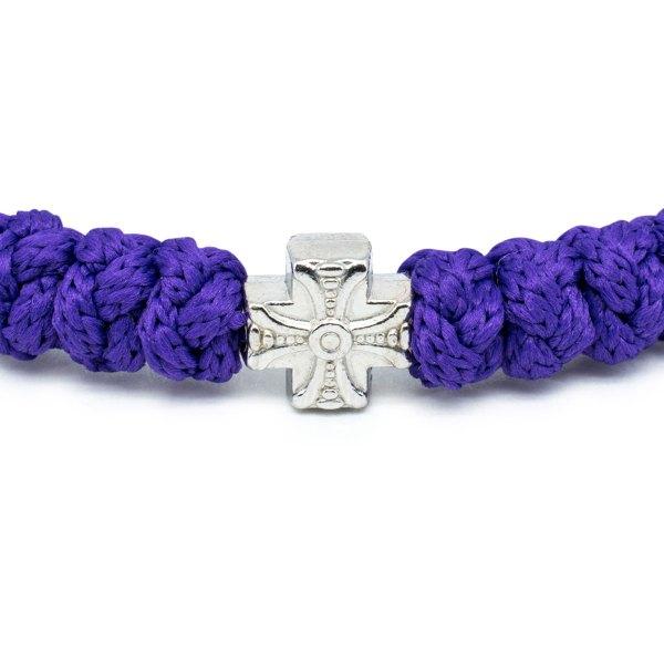 Dark Purple Prayer Bracelet