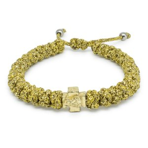 Adjustable Gold Prayer Rope Bracelet-0
