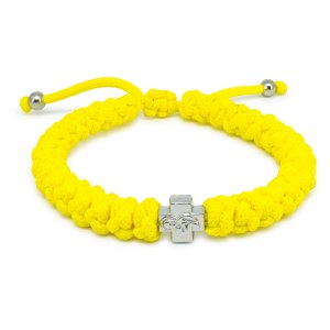 Adjustable Neon Yellow Prayer Rope Bracelet-0