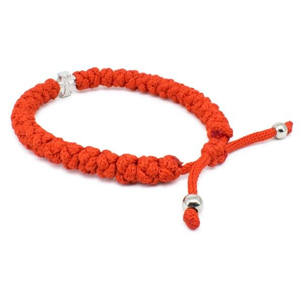 Adjustable red prayer bracelet