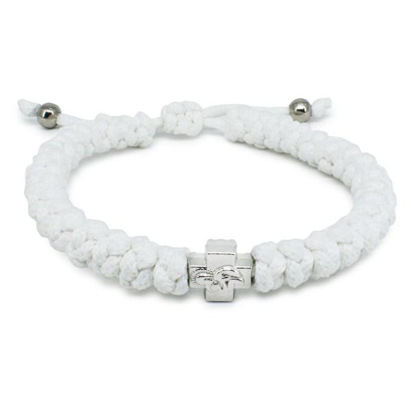 Adjustable White Prayer Rope Bracelet-0
