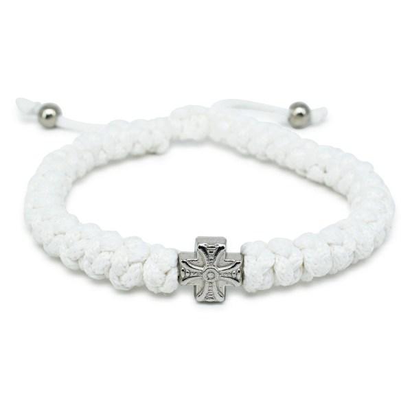 Adjustable White Prayer Bracelet