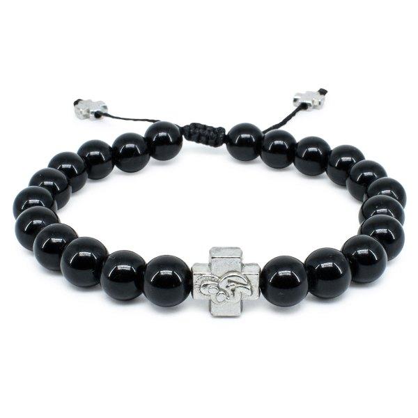 Black Onyx Stone Orthodox Bracelet-0