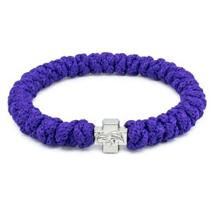 Dark Purple Prayer Rope Bracelet-0